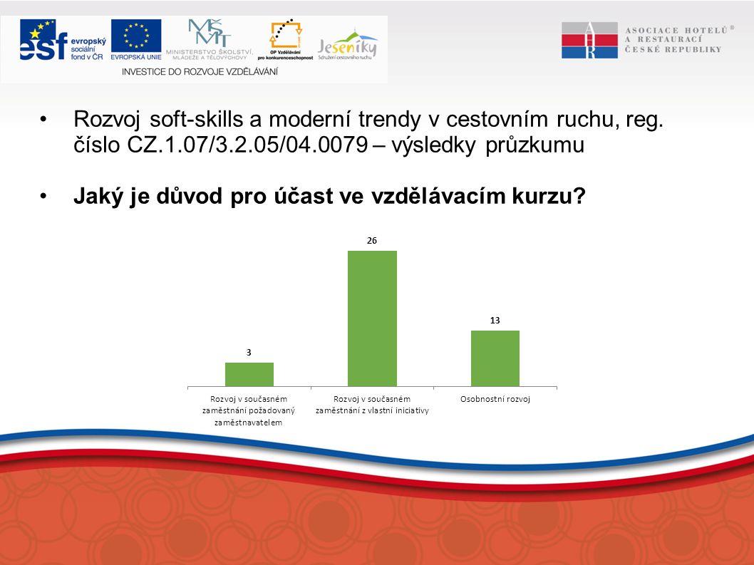 Rozvoj soft-skills a moderní trendy v cestovním ruchu, reg.