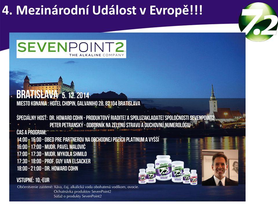 Platinum a vyšší... Společná večeře s Dr. Howard Cohn www.sevenpoint2university.eu/aktuality