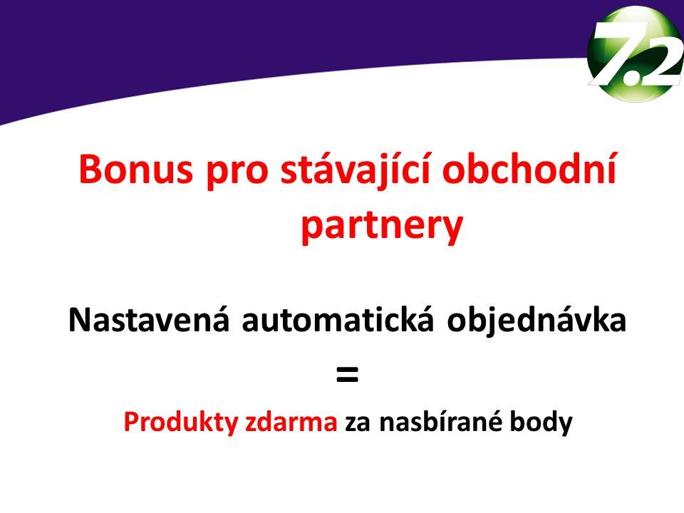 Bonus pro stávající obchodní partnery Nastavená automatická objednávka = Produkty zdarma za nasbírané body 3 skupiny lidí