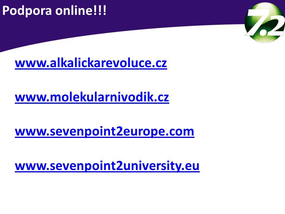 www.alkalickarevoluce.cz www.molekularnivodik.cz www.sevenpoint2europe.com www.sevenpoint2university.eu Podpora online!!!