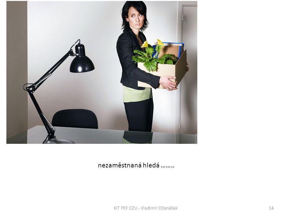 nezaměstnaná hledá …….. 14KIT PEF CZU - Vladimír Očenášek