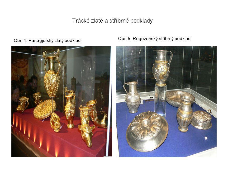 Trácké zlaté a stříbrné podklady Obr. 4: Panagjurský zlatý podklad Obr. 5: Rogozenský stříbrný podklad