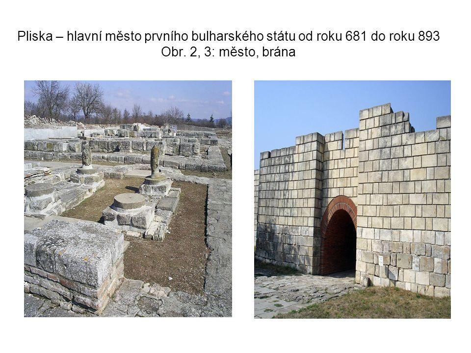 Obr. 4, 5: Středověká bazilika v Plisce