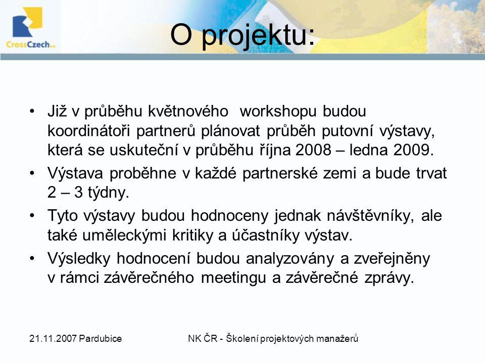 O projektu: Již v průběhu květnového workshopu budou koordinátoři partnerů plánovat průběh putovní výstavy, která se uskuteční v průběhu října 2008 – ledna 2009.