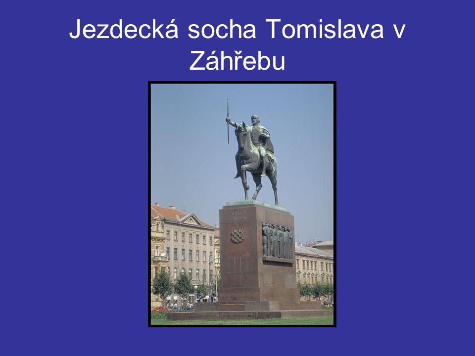 Jezdecká socha Tomislava v Záhřebu