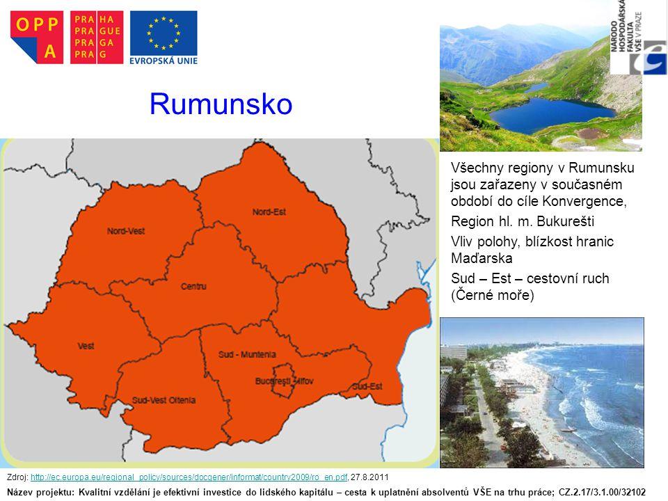 Zdroj: http://ec.europa.eu/regional_policy/sources/docgener/informat/country2009/ro_en.pdf, 27.8.2011http://ec.europa.eu/regional_policy/sources/docge