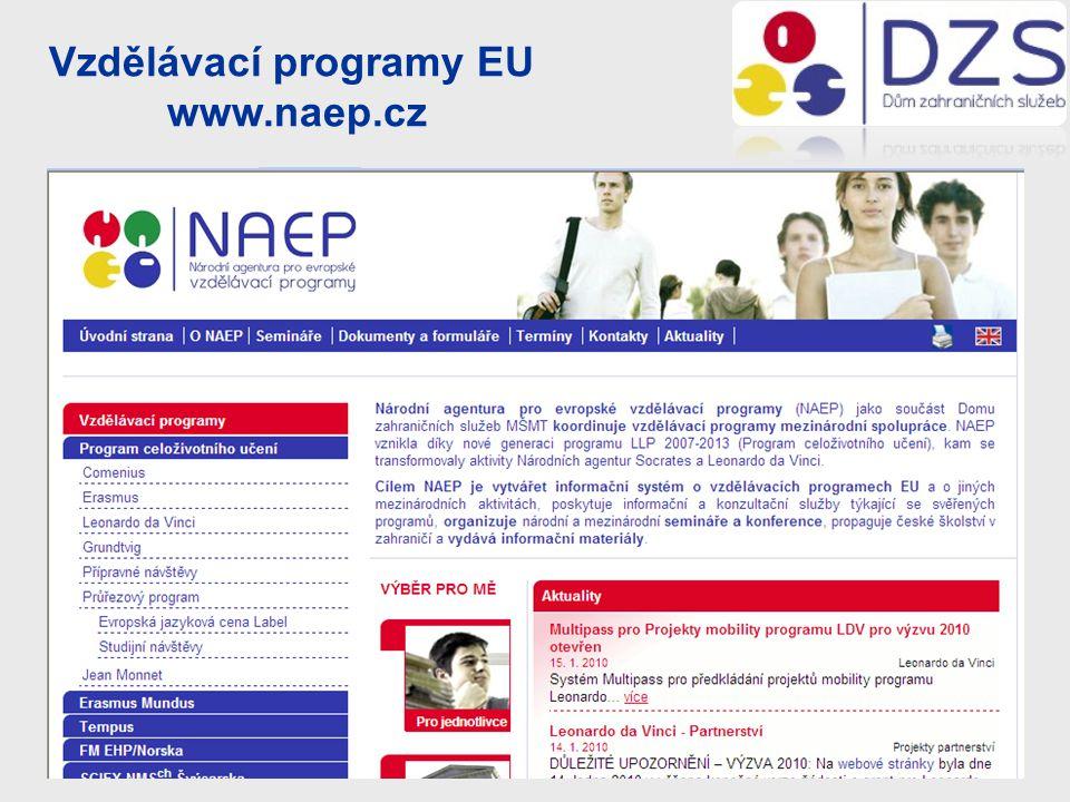 Vzdělávací programy EU www.naep.cz