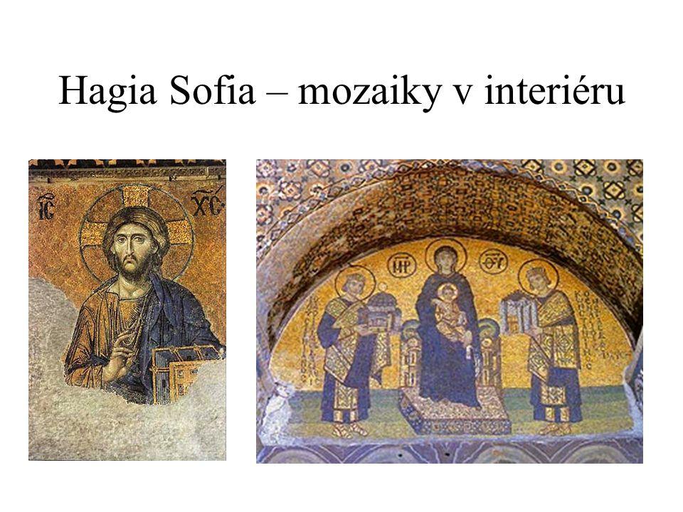Hagia Sofia – mozaiky v interiéru