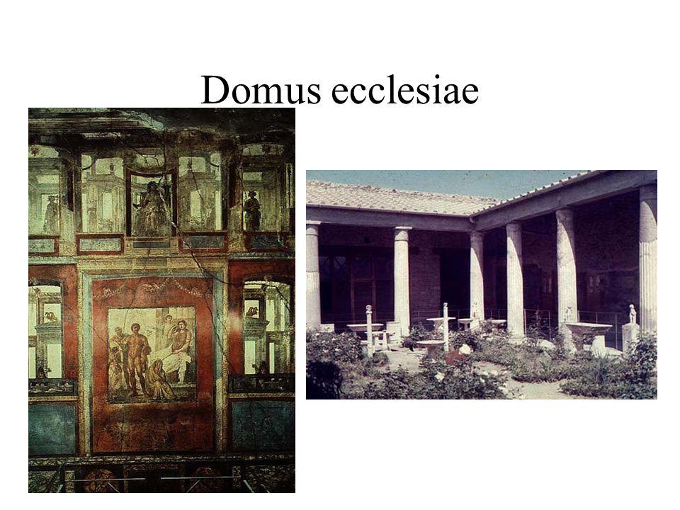 Architektura raného křesťanství kostely bazilikálního typu vedle boha oslavují císaře, který konvertoval ke křesťanství jsou odvozeny z architektury římské Řím, Jeruzalém, Betlém, Konstantinopolis ve 2.