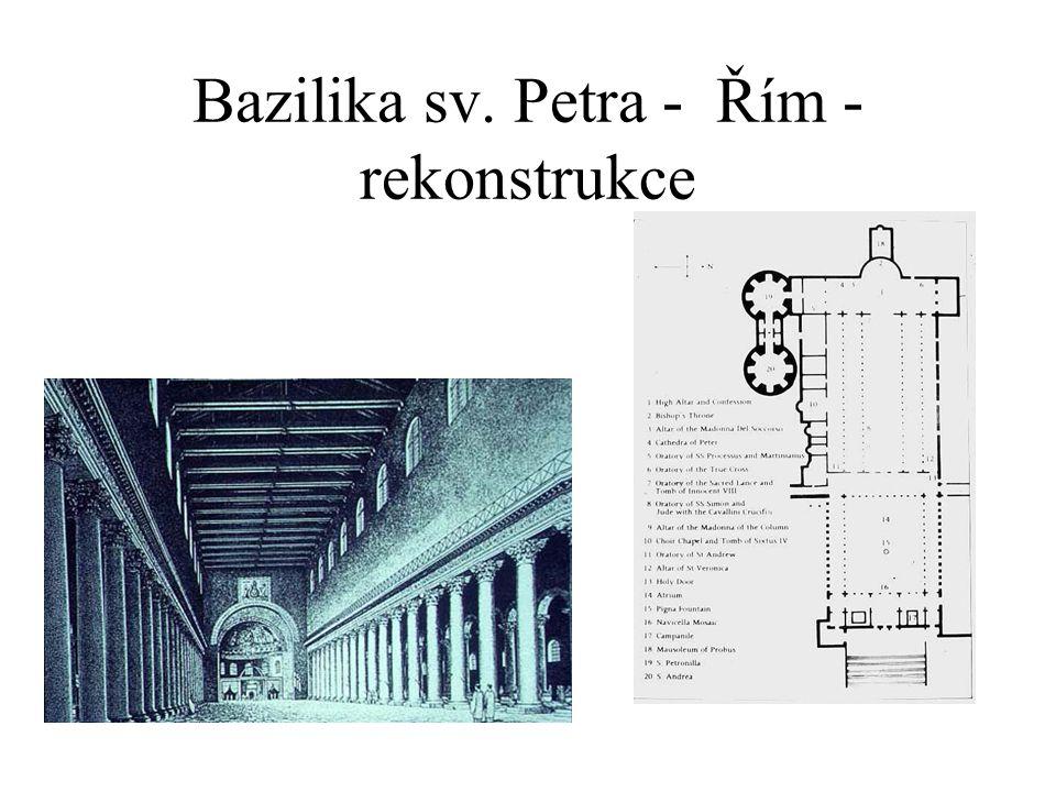 Bazilika sv. Petra- Řím - interér
