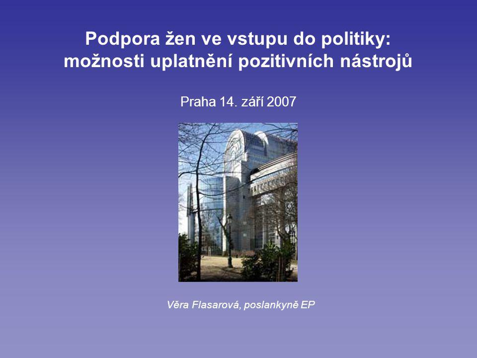 Podpora žen ve vstupu do politiky: možnosti uplatnění pozitivních nástrojů Praha 14.