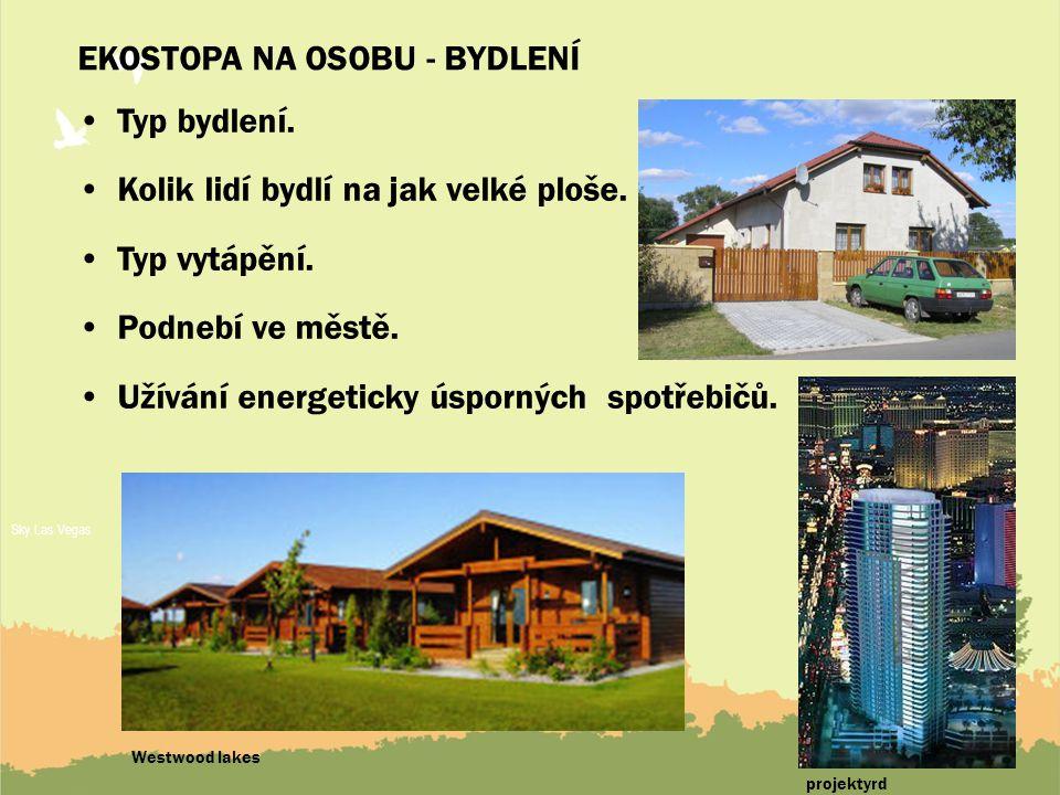 10 EKOSTOPA NA OSOBU - BYDLENÍ Typ bydlení.Kolik lidí bydlí na jak velké ploše.