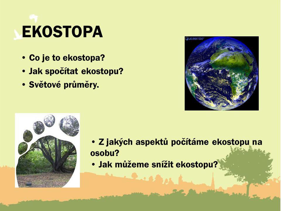 EKOSTOPA Co je to ekostopa.Jak spočítat ekostopu.
