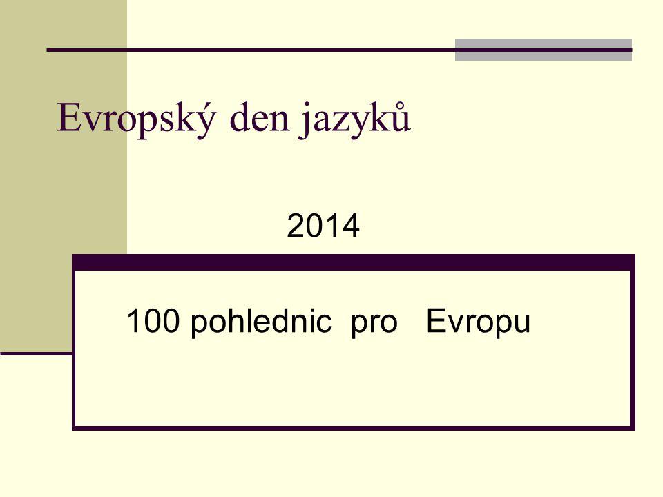 Evropský den jazyků 2014 100 pohlednic pro Evropu