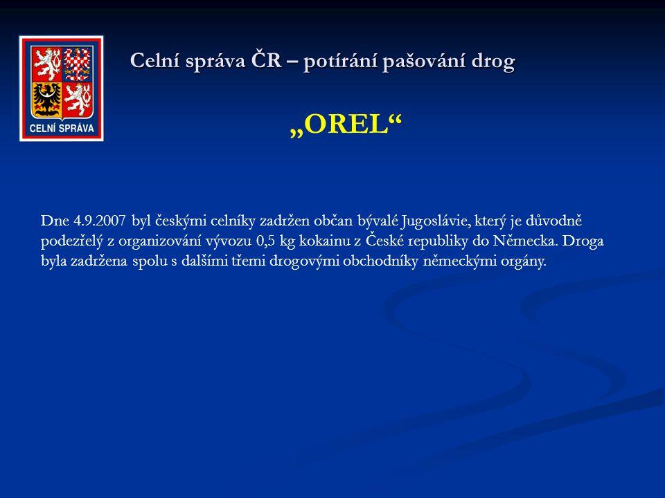 Celní správa ČR – potírání pašování drog Celní úřad Praha 1 - pošta V září bylo v poštovní zásilce z Kostariky do Prahy při celní kontrole odhaleno 3,5 kg kokainu.