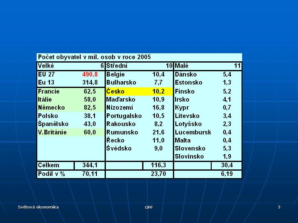 Světová ekonomika OPF 4
