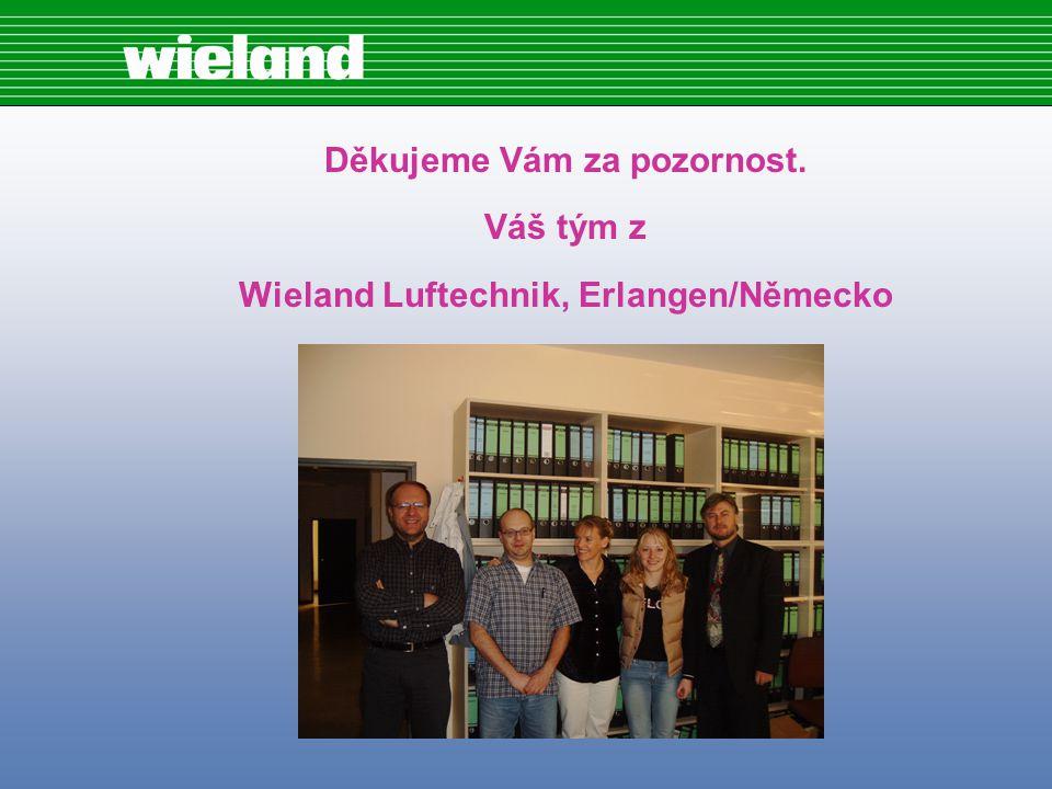 Děkujeme Vám za pozornost. Váš tým z Wieland Luftechnik, Erlangen/Německo