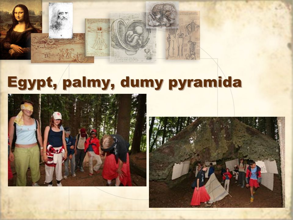 Egypt, palmy, dumy pyramida