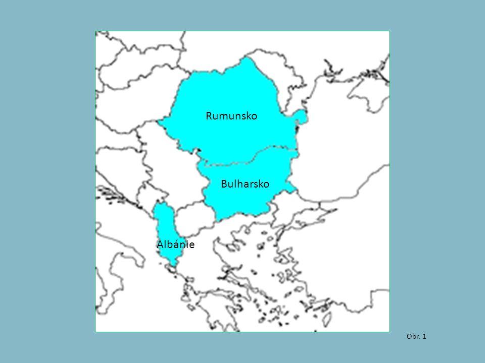 Obr. 1 Albánie Rumunsko Bulharsko