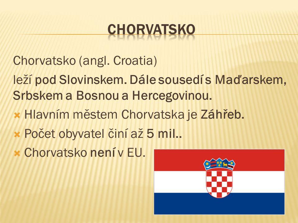Chorvatsko (angl. Croatia) leží pod Slovinskem. Dále sousedí s Maďarskem, Srbskem a Bosnou a Hercegovinou.  Hlavním městem Chorvatska je Záhřeb.  Po