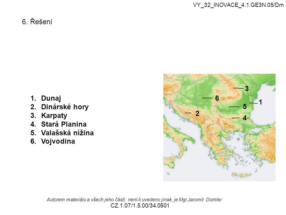 VY_32_INOVACE_4.1.GE3N.05/Dm Autorem materiálu a všech jeho částí, není-li uvedeno jinak, je Mgr.Jaromír Dümler CZ.1.07/1.5.00/34.0501 6. Řešení 1 2 3