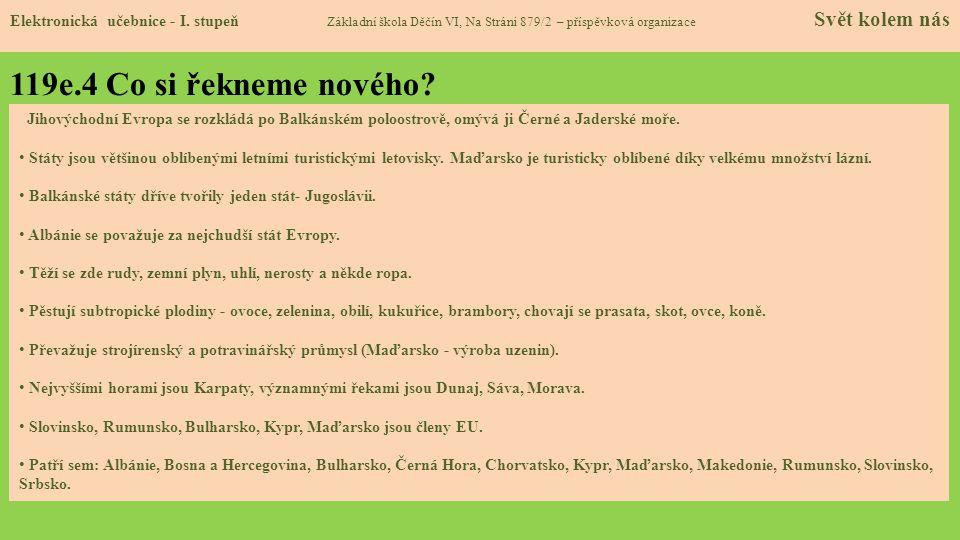 119e.5 Procvičení a příklady Elektronická učebnice - I.