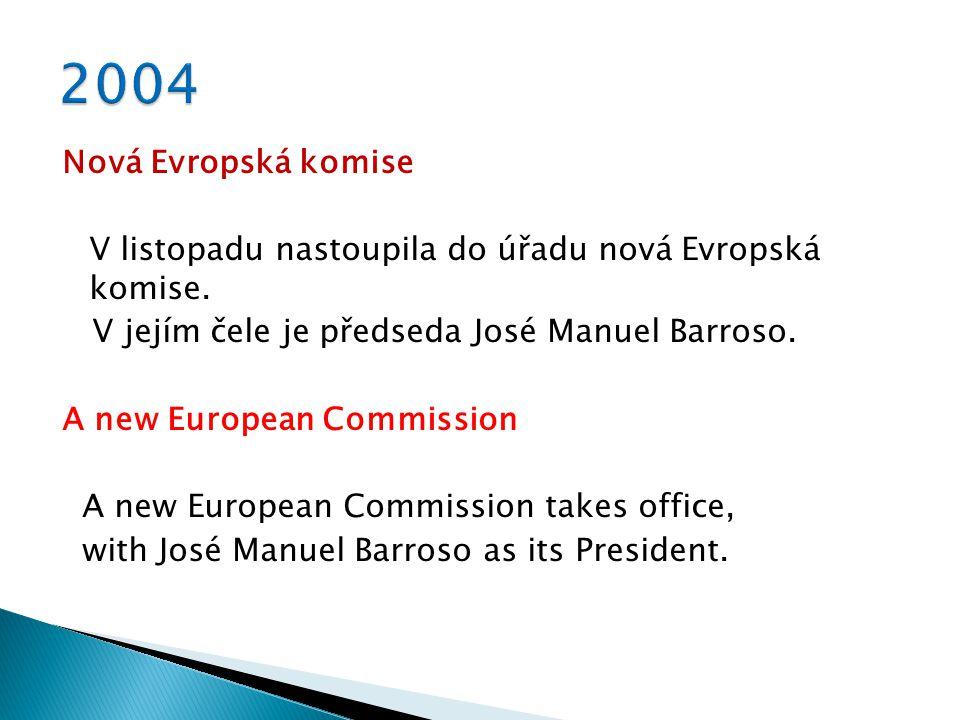 Nová Evropská komise V listopadu nastoupila do úřadu nová Evropská komise.