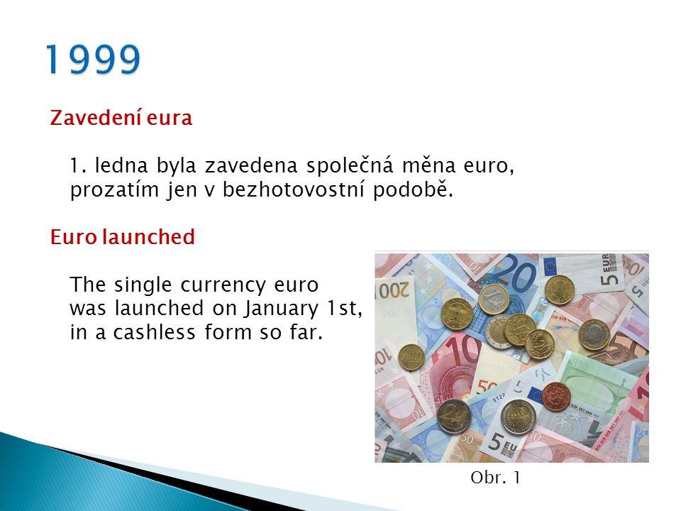 Zavedení eura 1. ledna byla zavedena společná měna euro, prozatím jen v bezhotovostní podobě.