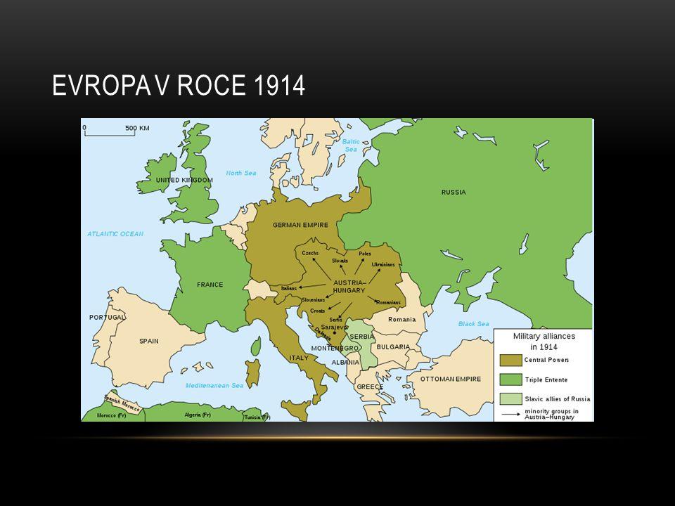 EVROPA V ROCE 1914