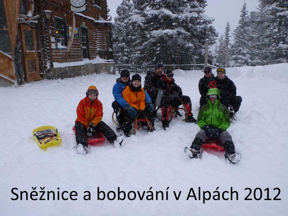 Sněžnice a bobování v Alpách 2012