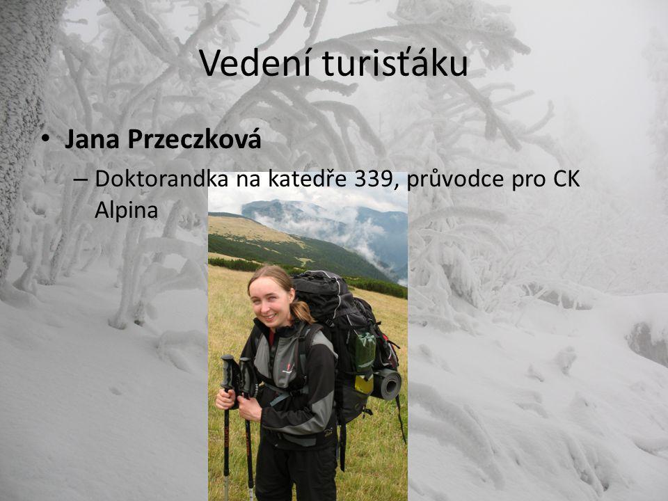 Vedení turisťáku Jana Przeczková – Doktorandka na katedře 339, průvodce pro CK Alpina