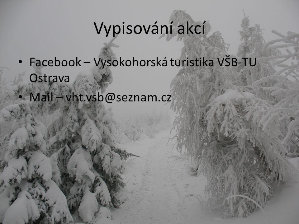 Vypisování akcí Facebook – Vysokohorská turistika VŠB-TU Ostrava Mail – vht.vsb@seznam.cz
