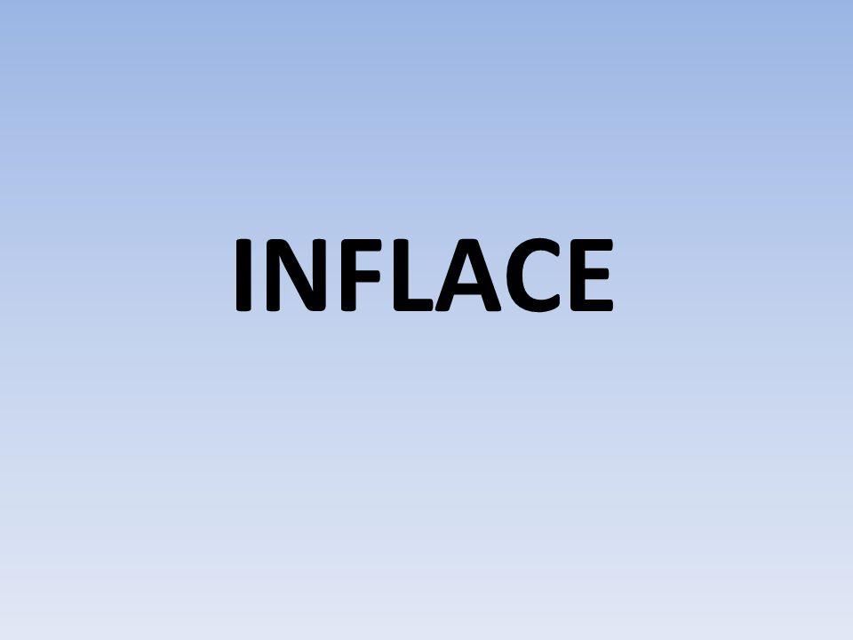 je jedním z makroekonomických ukazatelů ukazuje vzestup cenové hladiny a pokles síly peněz je vyjádřen v %, určuje ČNB, nyní je na 2.14 % je také označován jako projev ekonomické nerovnováhy, lidé nevědí, co bude ČNB má možnost administrativním opatřením inflaci zmírnit projevy této inflace jsou: vynucený růst úspor - obava z inflace, proto šetření peněz existence nedostatkového zboží - lidé se snaží koupit levnější zboží, než-li dražší rozvoj černého trhu - je to zde levnější např.