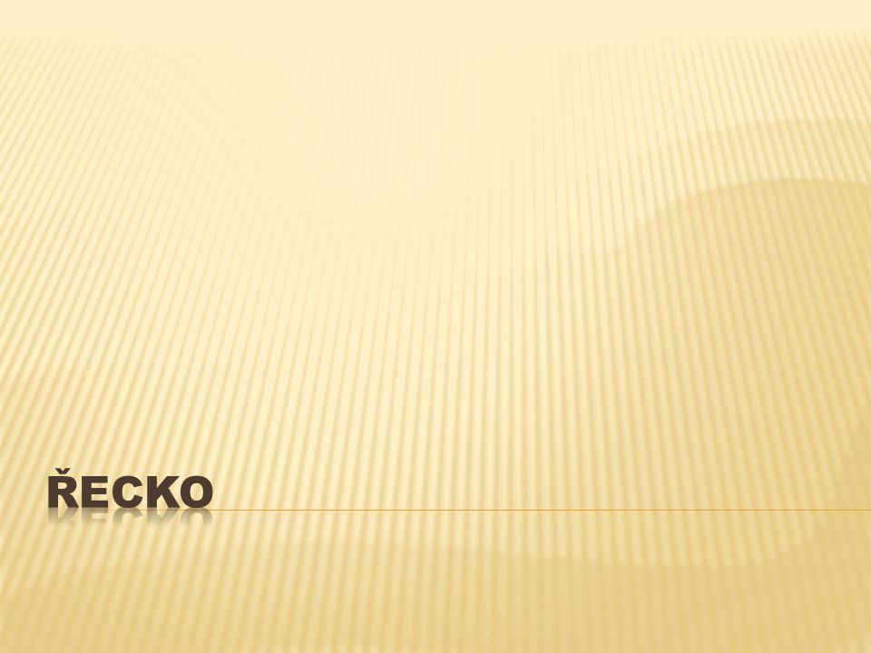  Leží v jižní Evropě  u Egejského moře  Měna: Euro  Rozloha:131 990 km 2  Počet obyvatel: 10 787 960  Hymna: Hymnus ke svobodě  Státní zařízení: parlamentní republika  Prezident:Karolos Papulias  Hlavní město:Athény  Názvy ostrovů:Kréta, Zakynthos, Paxos