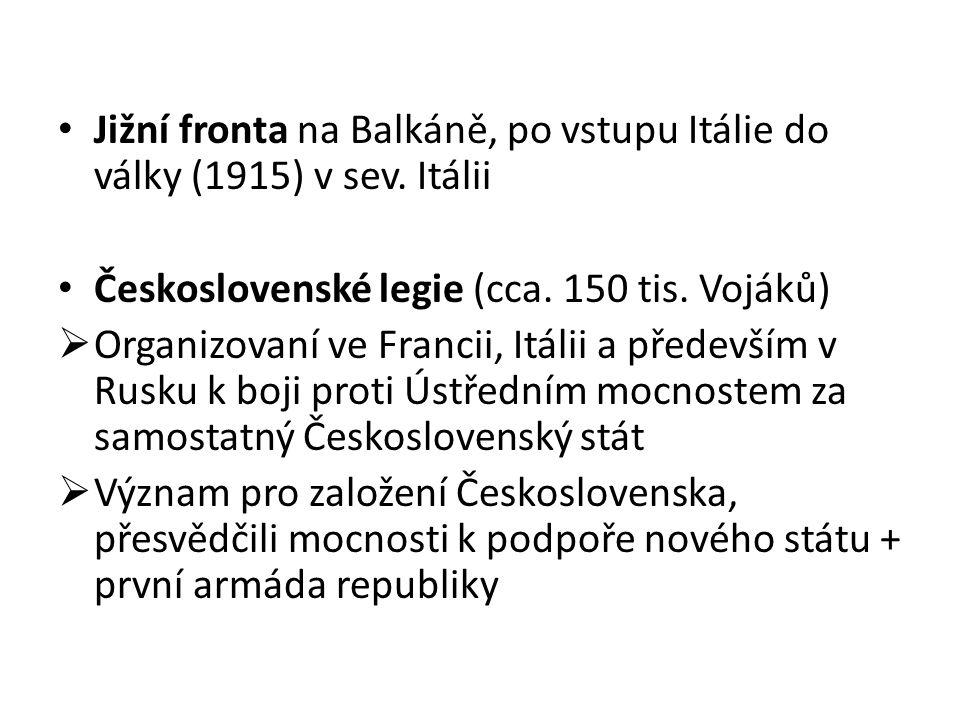 Jižní fronta na Balkáně, po vstupu Itálie do války (1915) v sev.