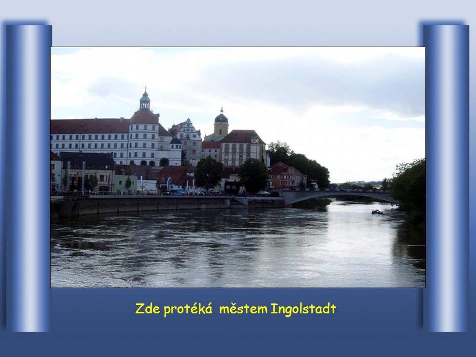 Dunaj v Ulmu v Německu