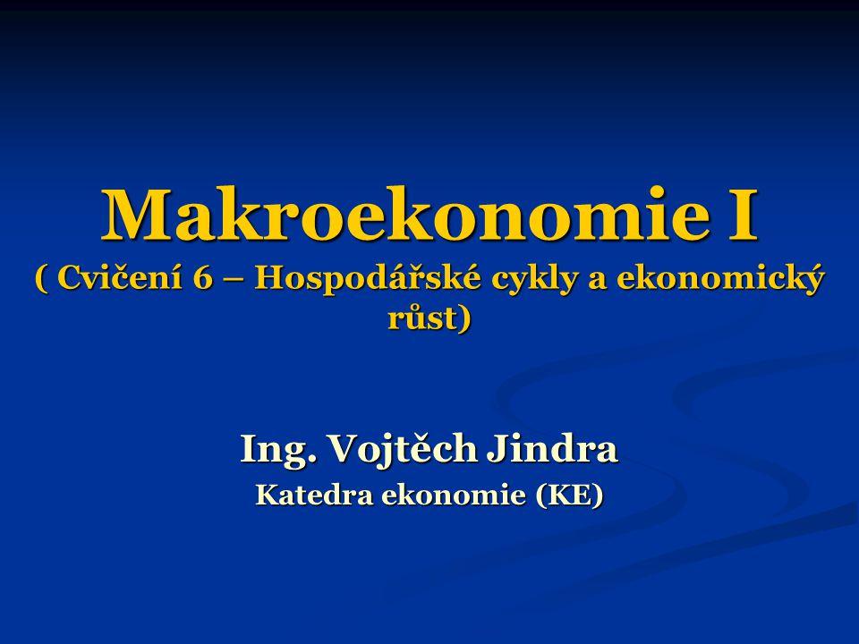 Makroekonomie I ( Cvičení 6 – Hospodářské cykly a ekonomický růst) Ing.
