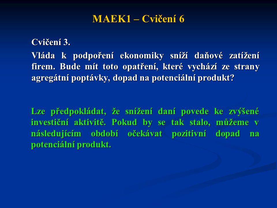MAEK1 – Cvičení 6 Cvičení 3.Vláda k podpoření ekonomiky sníží daňové zatížení firem.