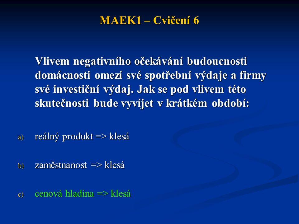 MAEK1 – Cvičení 6 Cvičení 2.Česká republika po roce 1989 prošla transformací ekonomiky.