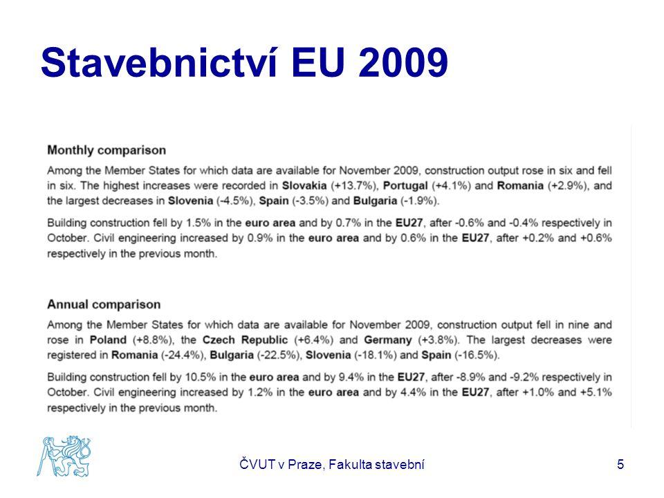 Stavebnictví EU 2009 ČVUT v Praze, Fakulta stavební5