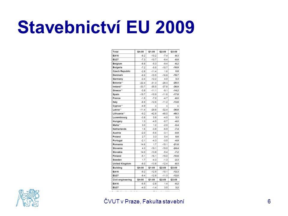 Stavebnictví EU 2009 ČVUT v Praze, Fakulta stavební6