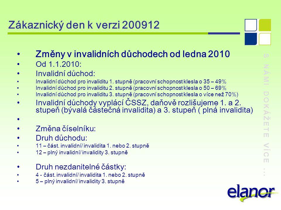 S NÁMI DOKÁŽETE VÍCE... Zákaznický den k verzi 200912