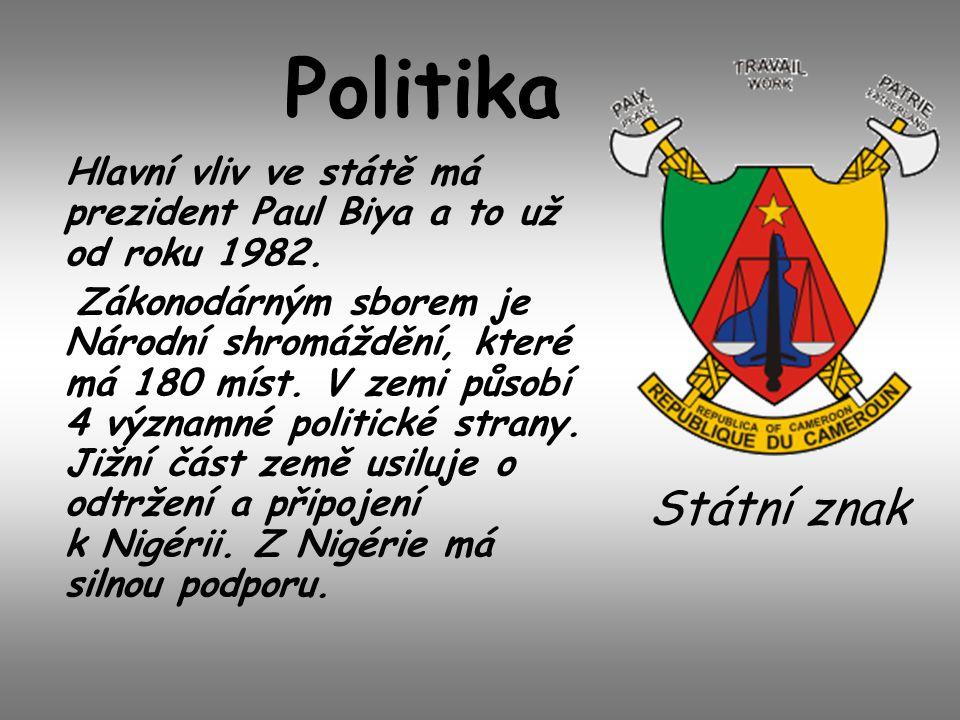 Politika Hlavní vliv ve státě má prezident Paul Biya a to už od roku 1982. Zákonodárným sborem je Národní shromáždění, které má 180 míst. V zemi působ