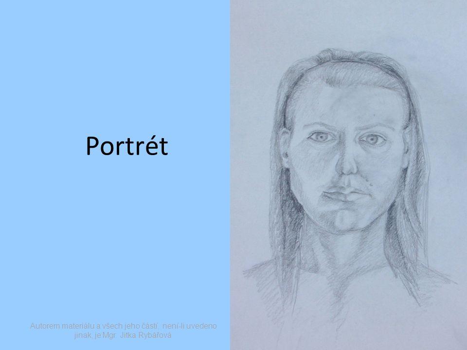 Portrét Autorem materiálu a všech jeho částí, není-li uvedeno jinak, je Mgr. Jitka Rybářová