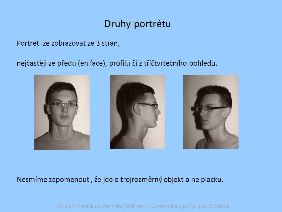 Návod na kresbu portrétu 1/ Jako první se snažíme zachytit tvar hlavy.