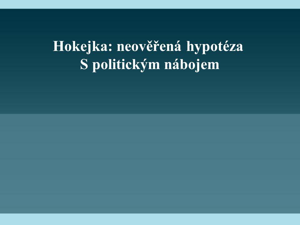 Hokejka: neověřená hypotéza S politickým nábojem
