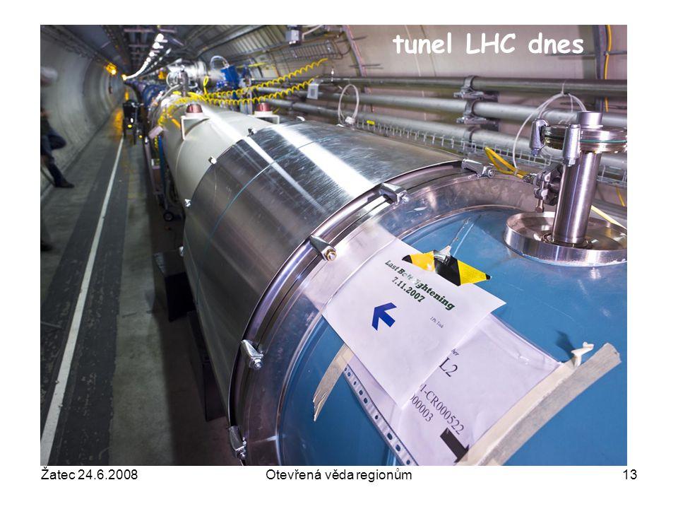 Žatec 24.6.2008Otevřená věda regionům13 tunel LHC dnes