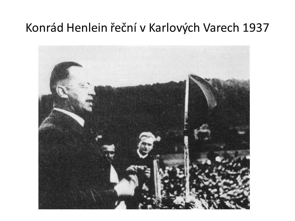 Konrád Henlein řeční v Karlových Varech 1937