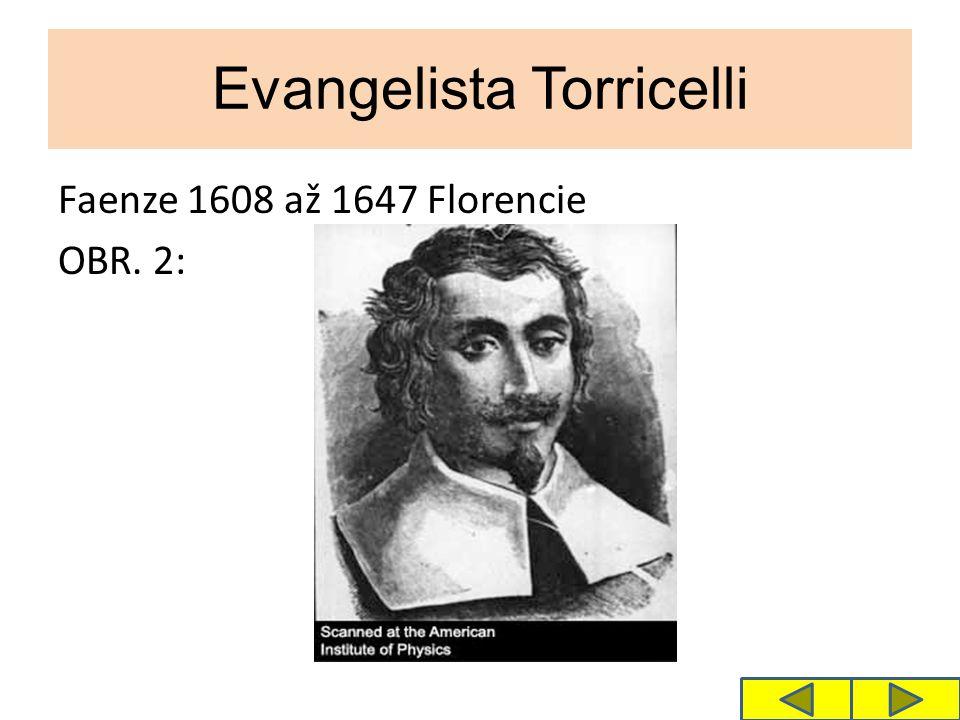Evangelista Torricelli Faenze 1608 až 1647 Florencie OBR. 2: