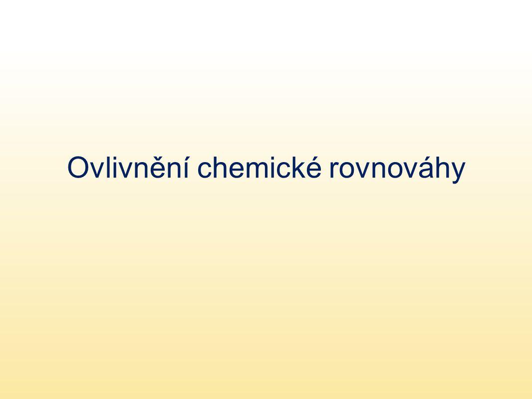 Ovlivnění chemické rovnováhy